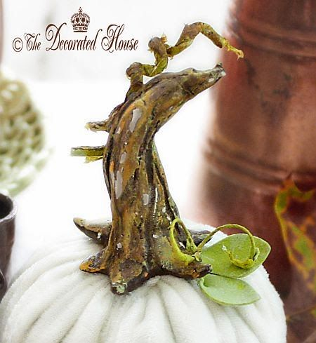 The Decorated House :: How to Add a Pretty DIY Stem to Your Velvet or Painted Foam Pumpkins