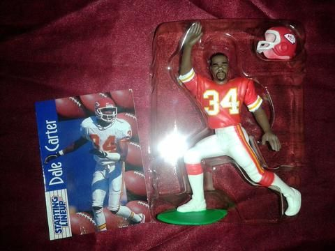 Kenner's Starting Lineup 1997 Dale Carter Figurine, Collectors Card, Helmet. $10.00