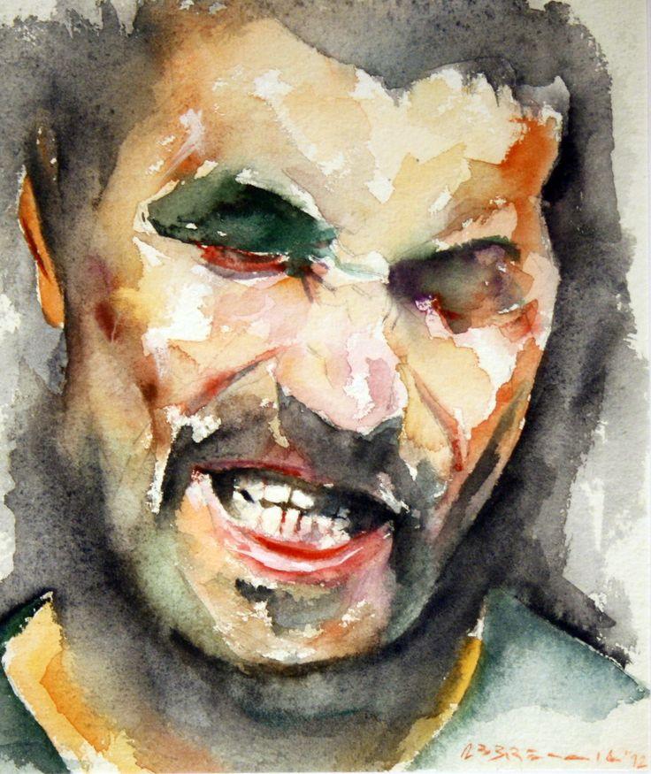 """""""Volto"""" - acquerello su carta 21 x 30 cm, 2012 (Artist: F.Abbreccia)"""