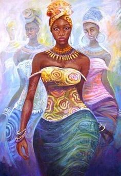 Oshun, West African goddess/orisha of sweet waters, beauty, love, artistry, and prosperity.