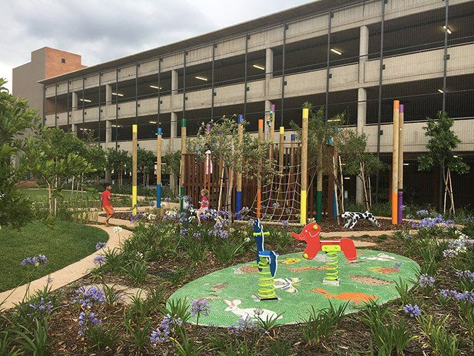 The Landscape Spaces of Nelson Mandela Children`s Hospital #landscapearchitecture #southafrica #therapeutic #health #horticulture #paly