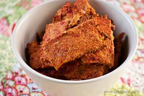 Juice pulp crackers! One of the biggest problems I have with making juices, is the wasted fibers and nutrition. This recipe is awesome!