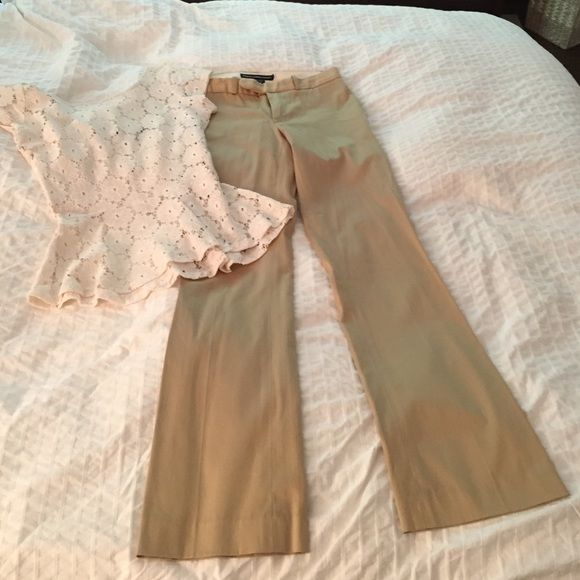 "Ralph Lauren trouser Tan trouser with stretch. Love these pants for the office! Roughly a 30"" inseam. Pockets front and back. Very good condition trades Ralph Lauren Pants Trousers"