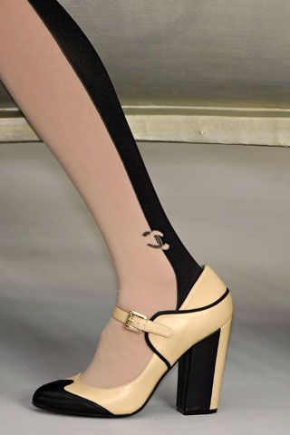 Chanel 2 tones tights and I am drooling over these shoes