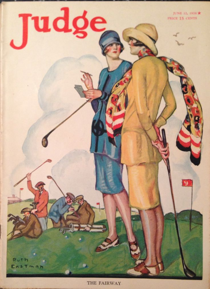 Judge Magazine June 1926 Lady Golfer Cover