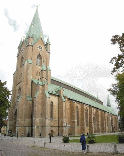 Visit to Linköping Cathedral: the present church is about 800 years old. However, its history starts in the 11th century, with a wooden church being built