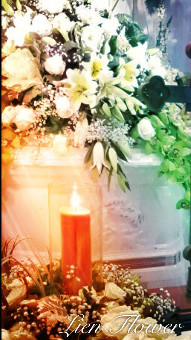 Elegant Casket sprays by www.liengallery.com #liengallery #LienFlowerDecoration #florist #surabayaflorist #banjarmasinflorist #sympathy #coffin #cross #funeralflowers #dukacita #tutuppeti #bungasalib #bungatutuppeti #krans