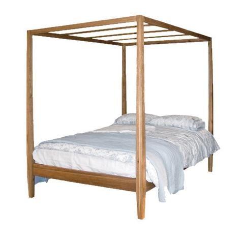 Brooklyn Oak 4 Poster Bed  L214cm W159cm H210cm