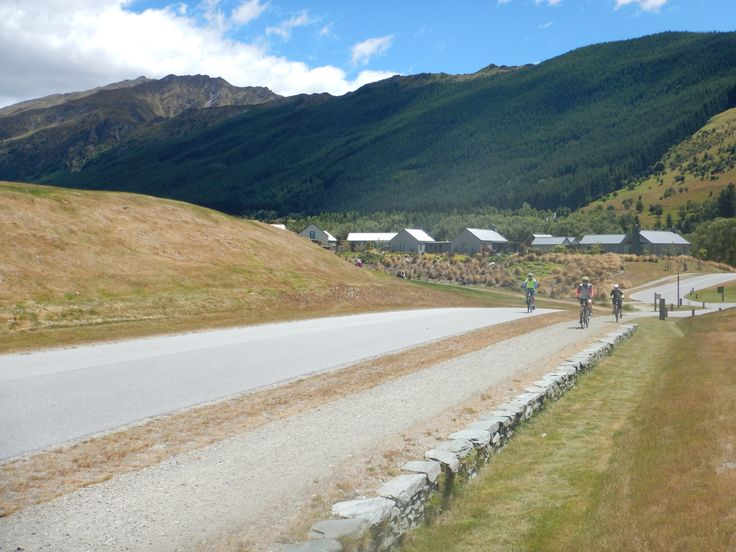 Riding through wine country in the Wakatipu basin near Queenstown.