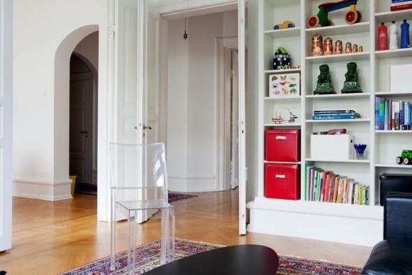 walls, shelves  Hylla vardagsrum