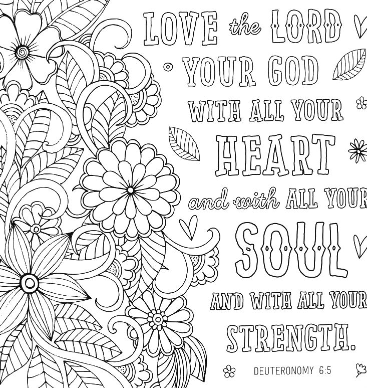 Love Bible Coloring Pages