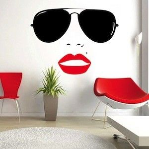 Vogue Girl Wall Decal & Wall Stickers - From Trendy Wall Designs