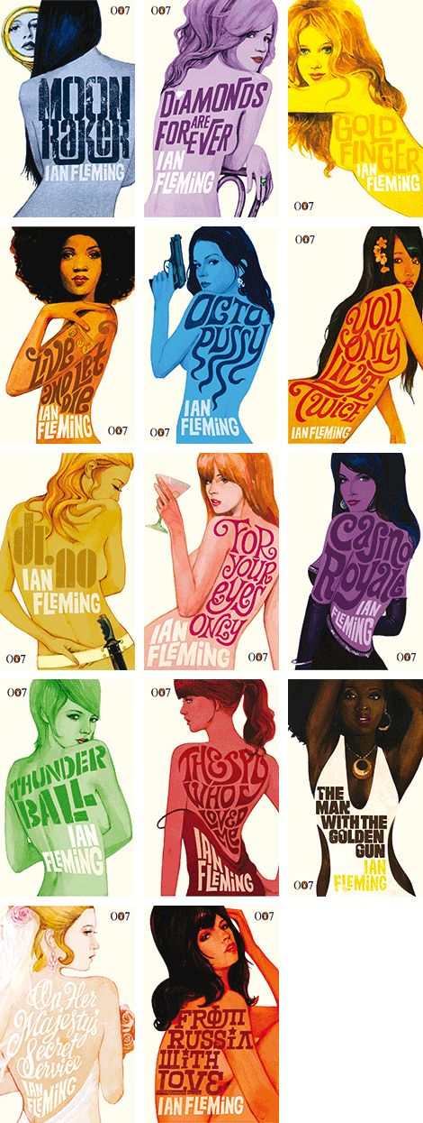 James Bond novel covers. Have seen a lot of the movies, but have not ready any of them. Love the covers!