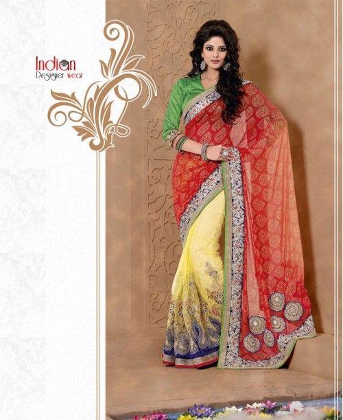 Sassy Multi-coloured Saree