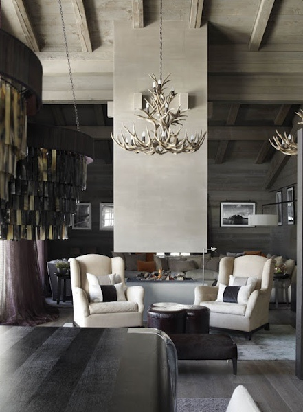 Kelly Hoppen | modern lodge style love this room!