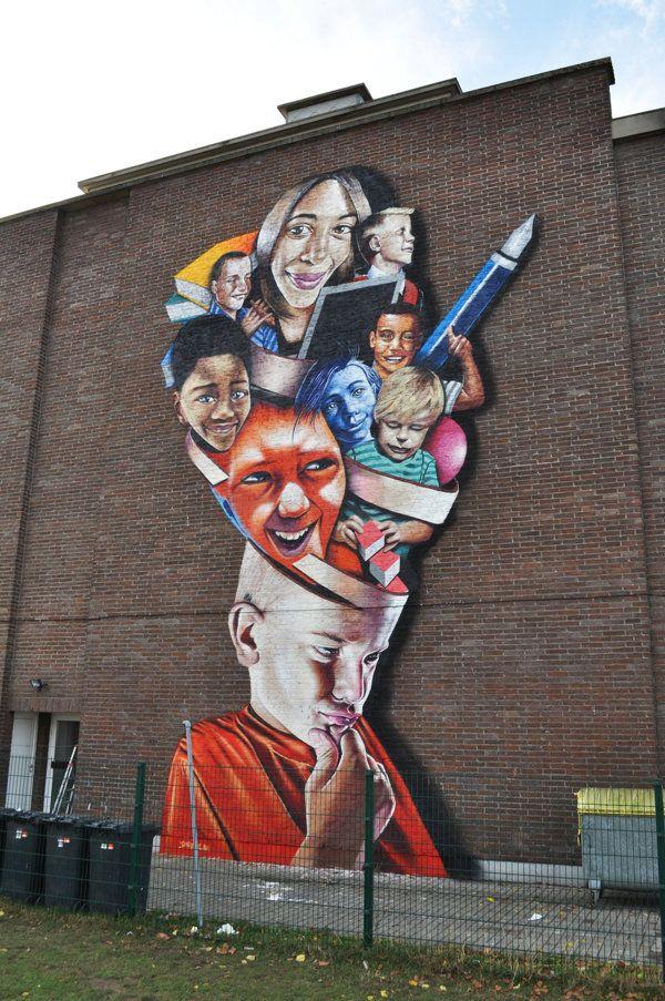 Street art artist Bart Smates - - Check more @ http://www.Streetart.nl or @streetart.nl #streetart #Bart Smates