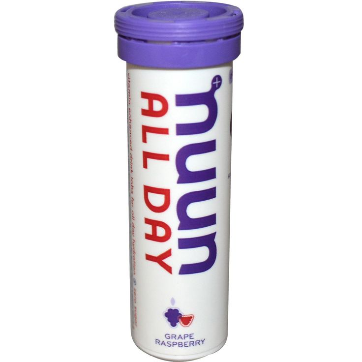 Nuun Hydration, Vitamin Enhanced Drink Tabs, All Day, Grape Raspberry, 15 Tabs, (51 g)