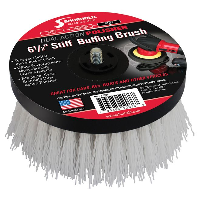 "Shurhold 6-1/2"""" Stiff Brush f/Dual Action Polisher [3205]"