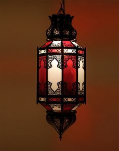 Image result for moroccan red pendant light