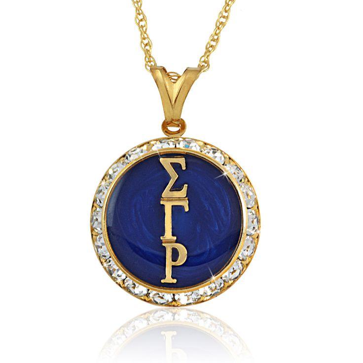sigma gamma rho jewelry | Sigma Gamma Rho Swarovski® Legacy Necklace | Arvensis Crystal Jewelry