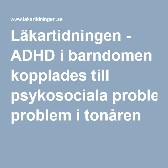 psykosociala problem