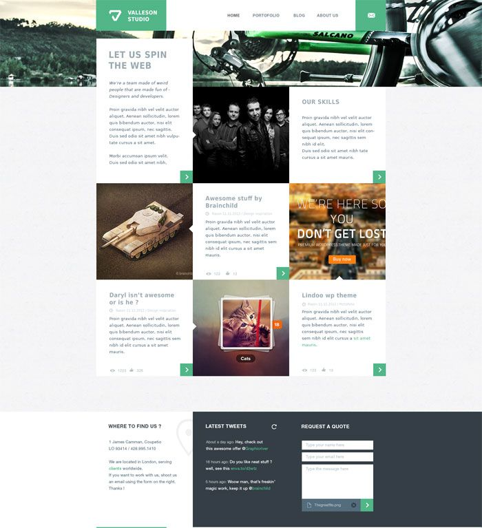 Valleson Website Layout Design Inspiration