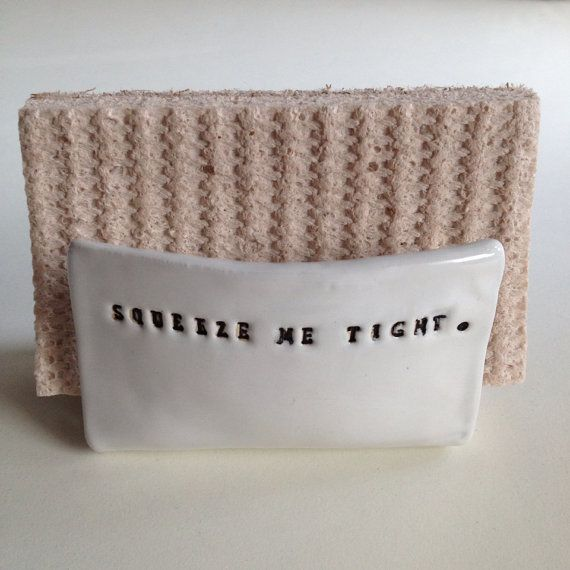 squeeze me tight kitchen sponge holder