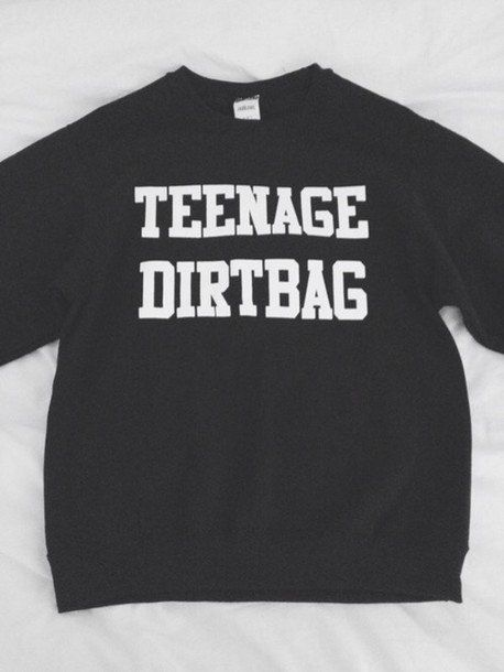 Hi and Welcome to stupid fashion store! For sale are these Teenage Dirtbag Printed sweatshirts! Seen all over Tumblr and fashion blogs!