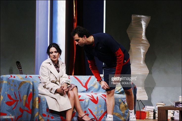 Photo d'actualité : Virgine Ledoyen, Arie Elmaleh in Paris, France on...