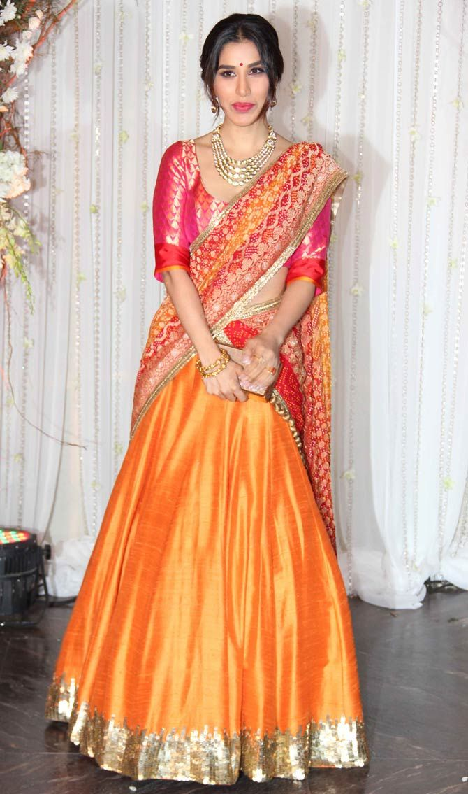 Sophie Choudry. Pic/Yogen Shah : Photos: Bipasha Basu, Karan Singh Grover's starry wedding reception