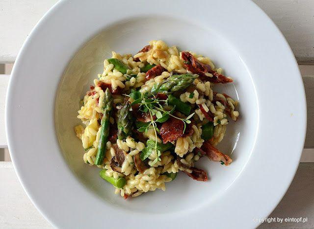 eintopf: risotto ze szparagami, suszonymi pomidorami, grzyb...