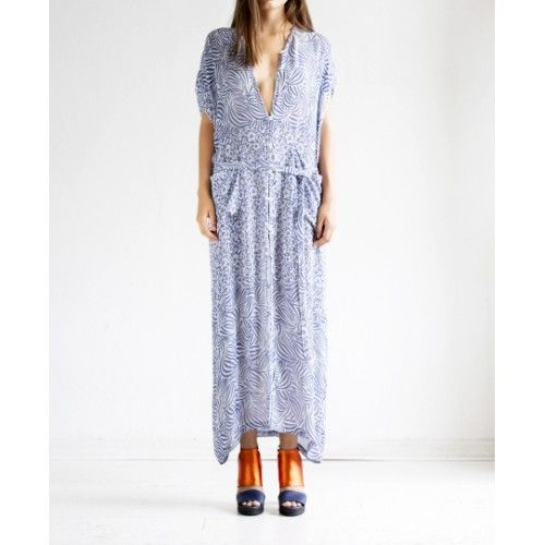 Rodebjer - Saki Floral Indigo Shirt Dress