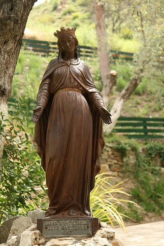 Statue of #Mary, at Mary's House outside of #Ephesus, #Turkey