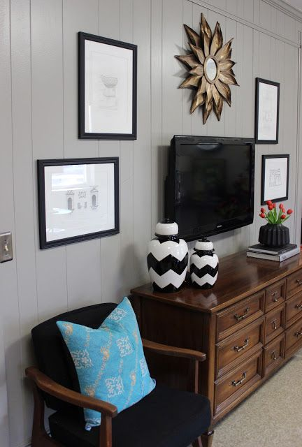 Wall Decor Around Mirror : Best ideas about decorating around tv on