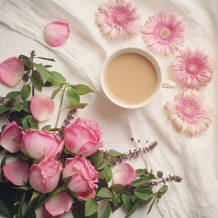 """ Beautiful  roses & tea will heal your heart gently .…"""