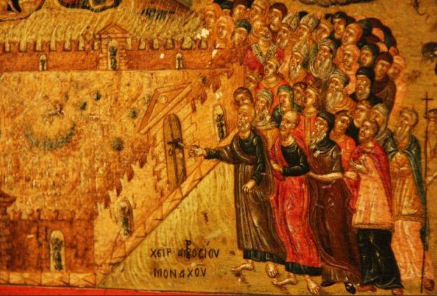 Fabriano Icona Giudizio   Firmata Ambrogio Monaco  16...  particolare