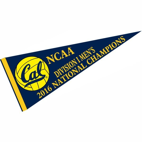 Cal Berkeley Golden Bears 2016 Men's Water Polo Champions Pennant measures 12x30 inches, is made of a felt blend, has a sewn sleeve for...