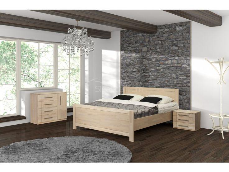 16 900 Kč Buková masivní postel Romana Grande se zvýšeným předním čelem je vyrobena z kvalitního jádrového buku v provedení cink.