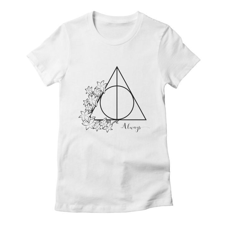 Always Women's Fitted T-Shirt by The Doodling Studio #harrypotter #deathlyhallows #hp #lillypotter #always #snape