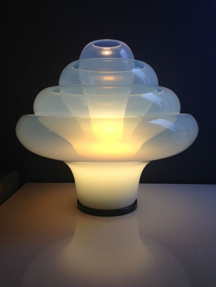 Lovely Lotus table lamp by Carlo Nason for Mazzega