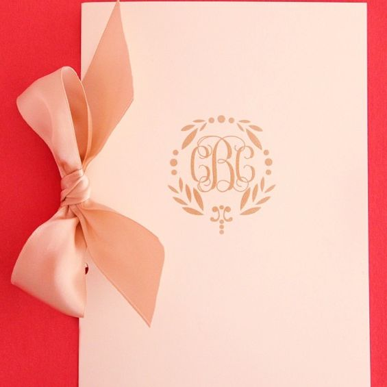 There are so many good parts about this wedding program!! Custom monogram + satin ribbon = perfection! I Custom by Nico and Lala