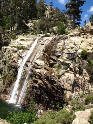 La belle cascade de Corse, A beautiful waterfall on Corsica.