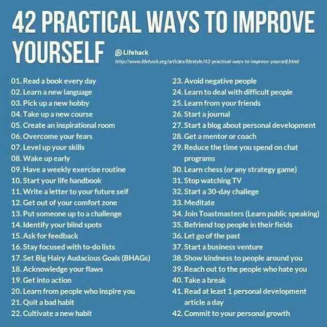 Ways to improve you