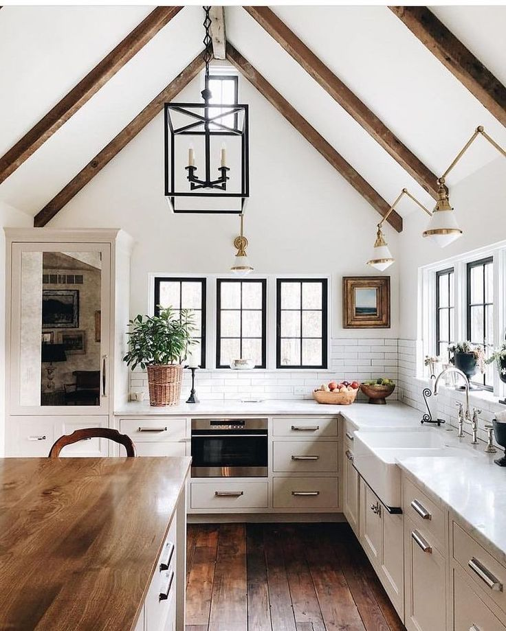 I've shared this image before, but not from this angle. But, I am showing it again because we are finally wrapping up and moving into our new home, however I'll be working on another home in the next several months. And, in the other home, I have plans to vault the kitchen ceiling similar to this. Bravo again @jeanstofferdesign for this amazing design!