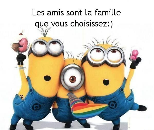 "les amis..I never took French, but from context clues I think it says ""Friends are the family that we choose"" or something along that line."