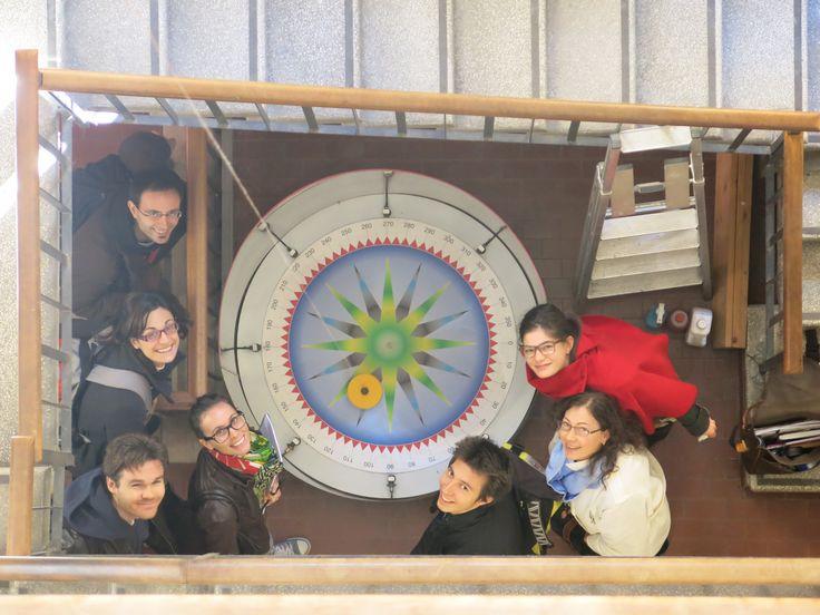 """MSC UNIPD Visita al museo della fisica, il pendolo """"di foucault"""" 11 ottobre 2013"""