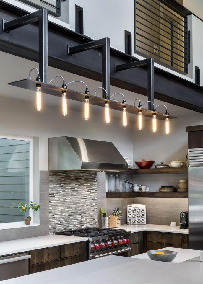 Kitchen Industrial Kitchen Light Fixtures Ideas Industrial Flush