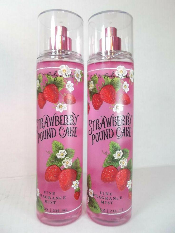 Details about 2 bath body works strawberry pound cake fine
