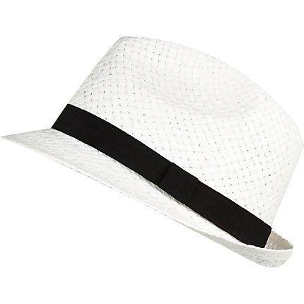 White trilby hat £14.00