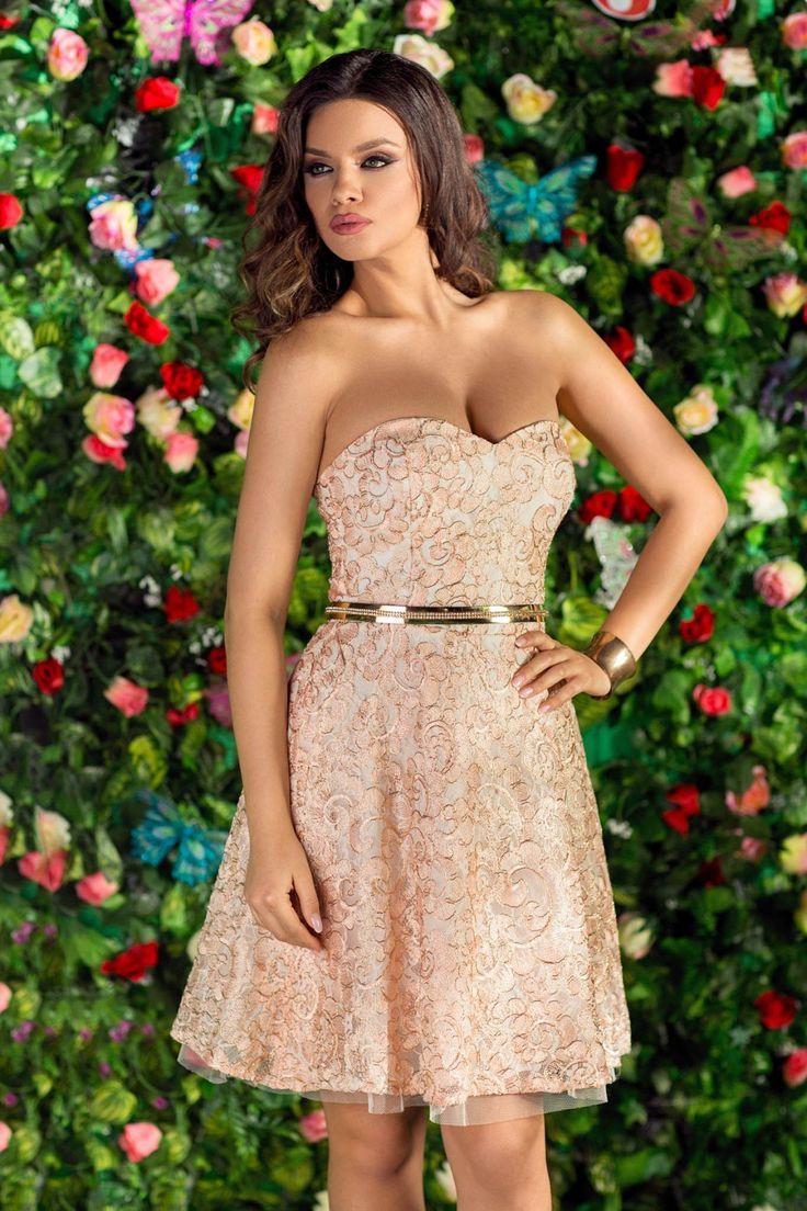 Rochie Veronique Rose 259 lei Rochie tip princess din dantela rose